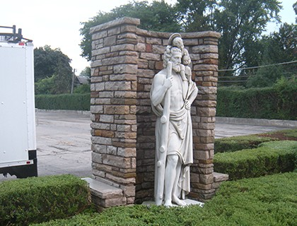 Statue of St. Joseph after