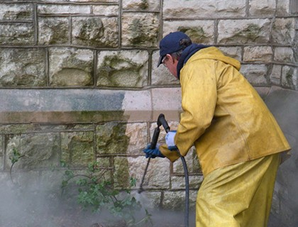 Stone Wall Cleaning